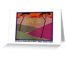 Rare Gleneagles Vintage Travel Poster Restored Greeting Card