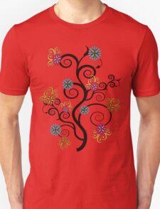 Swirly Flower Tree T-Shirt
