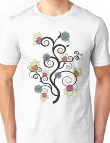 Swirly Flower Tree Unisex T-Shirt