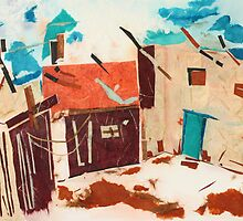 Village Corner by Joyce Ann Burton-Sousa
