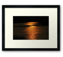 Sunset On Golden Pond  Framed Print