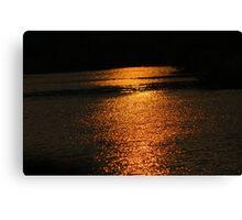 Sunset On Golden Pond  Canvas Print