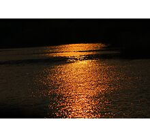 Sunset On Golden Pond  Photographic Print