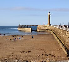 Whitby Harbour Wall and Beach by Jervaulx
