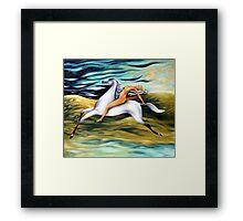 rider-across the landscape Framed Print