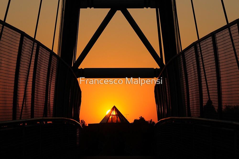 Bridge sunset by Francesco Malpensi