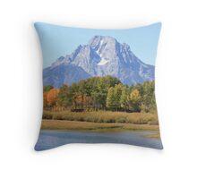 Teton National Park, Autumn Throw Pillow