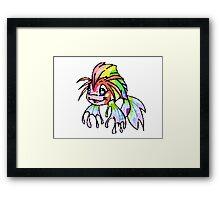 Rainbow Koi Framed Print