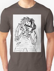 Black And White Chucky Child's Play Drawing T-Shirt