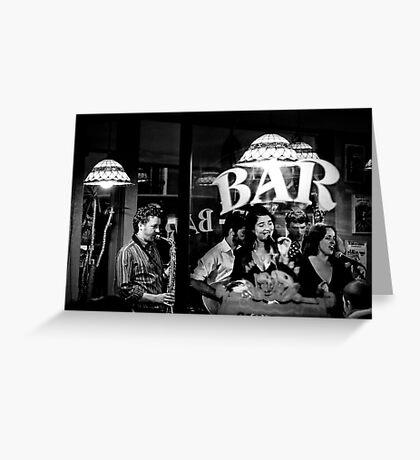 Jazz bar Greeting Card