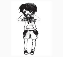 Emo Boy Holding A Heart Drawing by naty118