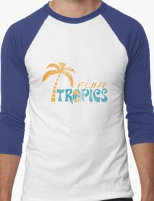 Flint Tropics Washed Retro Men's Baseball ¾ T-Shirt