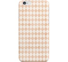 Tiny Peach Soft White Harlequins iPhone Case/Skin