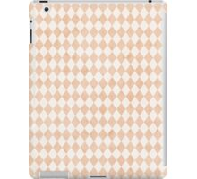 Tiny Peach Soft White Harlequins iPad Case/Skin