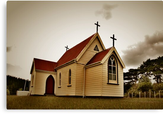 St Mary's Anglican Church, Mamaranui. by Lynne Haselden