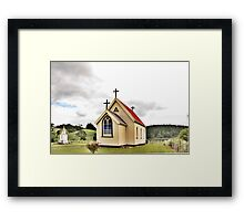St Mary's Anglican Church, Mamaranui, NZ. Framed Print