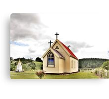 St Mary's Anglican Church, Mamaranui, NZ. Canvas Print