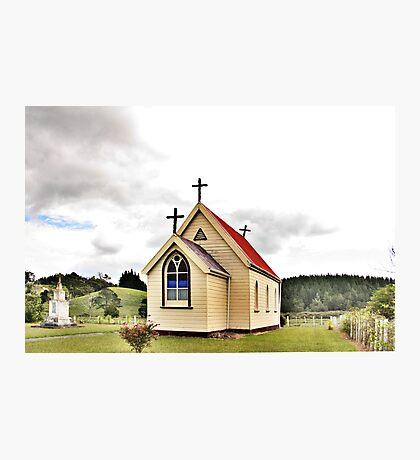 St Mary's Anglican Church, Mamaranui, NZ. Photographic Print
