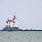 Fairport Harbor West Breakwater Lighthouse by Karl R. Martin