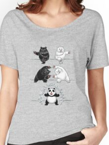 The fusion of panda  Women's Relaxed Fit T-Shirt