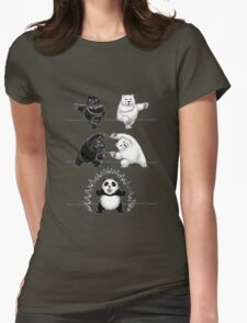 The fusion of panda  Womens Fitted T-Shirt