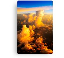 Sea of fluffy white clouds Canvas Print