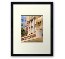 Lincoln Theater South Beach Florida Framed Print