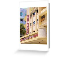 Lincoln Theater South Beach Florida Greeting Card