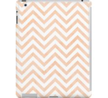 White Peach Chevrons iPad Case/Skin