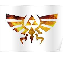Galaxy Zelda Triforce Poster