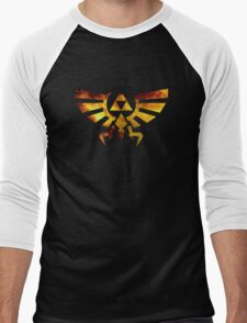 Galaxy Zelda Triforce Men's Baseball ¾ T-Shirt