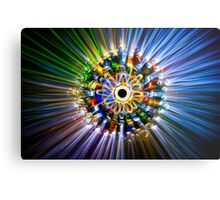 A flower, painted with light Metal Print