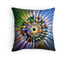 A flower, painted with light Throw Pillow