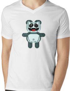 PANDA 3 Mens V-Neck T-Shirt