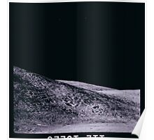 Apollo Archive 0123 Moon Mountain and Craters on Lunar Surface Poster