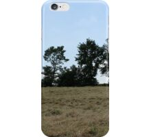 countryside landscape with hay iPhone Case/Skin