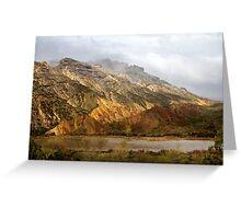 Split Mountain Rain Greeting Card