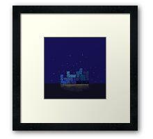 Modern city blue Framed Print