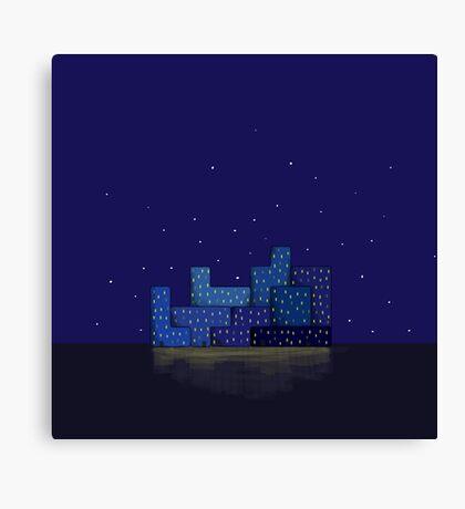 Modern city blue Canvas Print