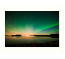 Northern Lights - Elk Island National Park (Edmonton, AB Canada) Art Print