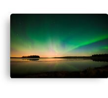 Northern Lights - Elk Island National Park (Edmonton, AB Canada) Canvas Print