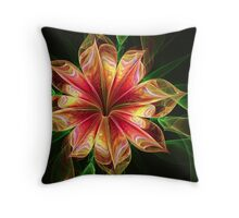 pretty in apricot Throw Pillow