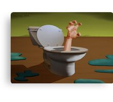 SURREALISM - Fear Of The Toilet Canvas Print