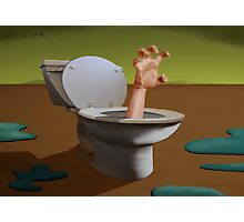 SURREALISM - Fear Of The Toilet Photographic Print