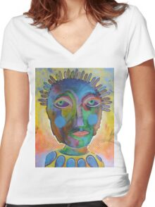 A Long Hard Look At Yourself Women's Fitted V-Neck T-Shirt