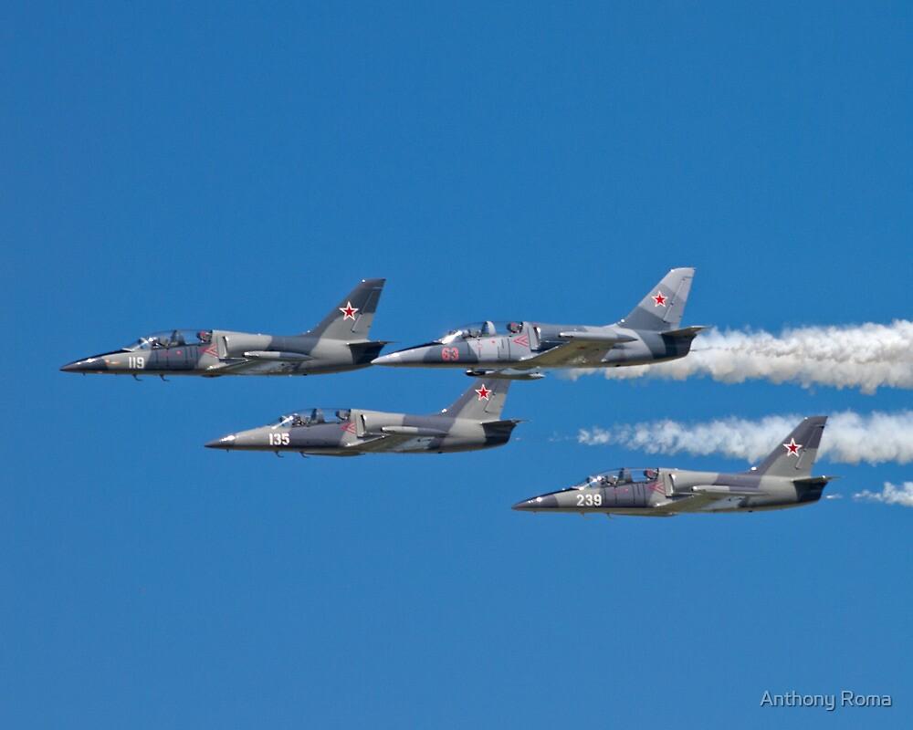 L-39 Albatross Formation 1 by Anthony Roma