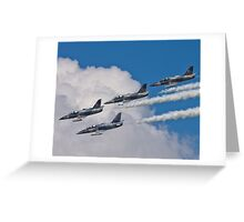 L-39 Albatross Formation 2 Greeting Card
