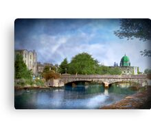 River Crossing - Galway, Ireland Canvas Print