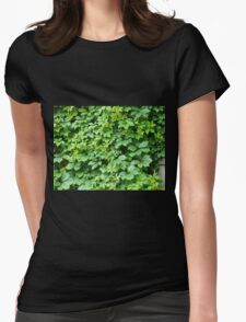 Wallpaper from leaves of grapes Womens Fitted T-Shirt