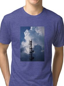 Antenna and thunderclouds Tri-blend T-Shirt